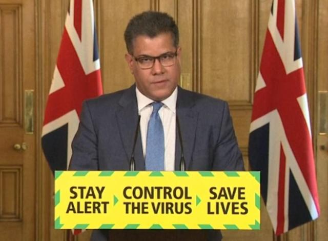 Business secretary Alok Sharma told Sunday's media briefing there will be no regional approach to lockdown easing. (PA Images via Getty Images)