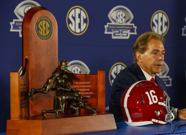 Nick Saban and a host of other SEC coaches voiced support for a new redshirt rule proposal. (AP)