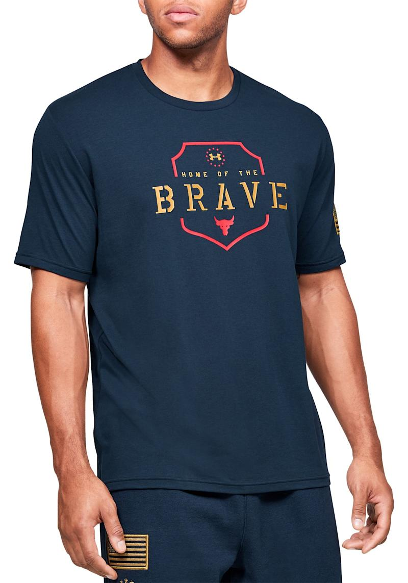 Under Armour Project Rock Home Of The Brave T-Shirt