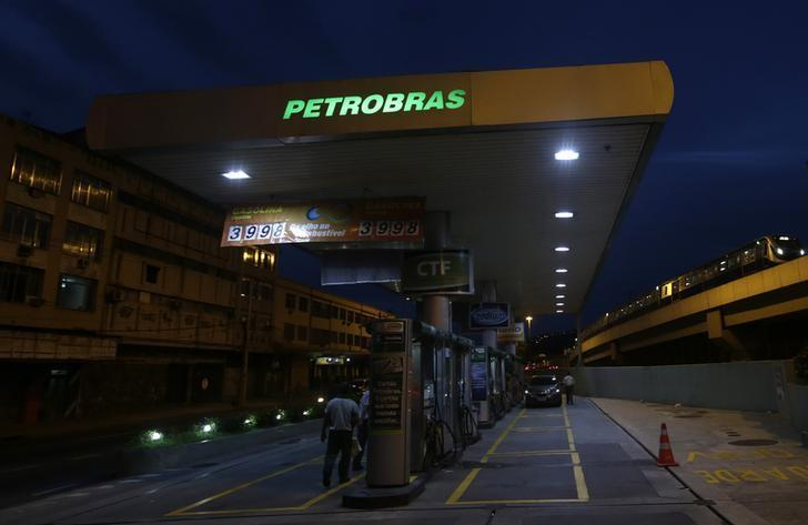 Gasoline prices are displayed at a Brazilian Oil Company Petrobras gas station in Rio de Janeiro