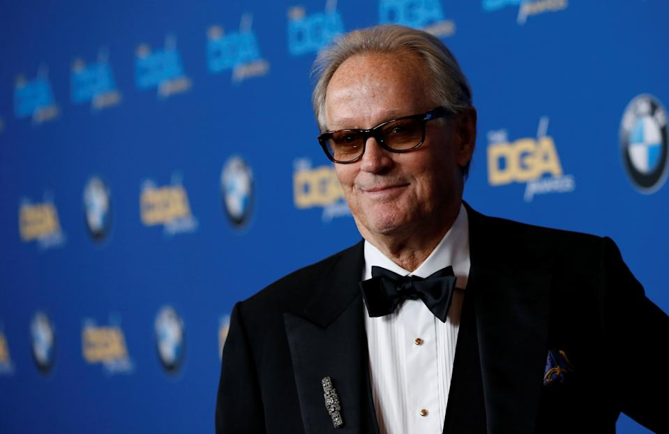Actor Peter Fonda poses at the 70th Annual DGA Awards in Beverly Hills, California, U.S., February 3, 2018. REUTERS/Mario Anzuoni