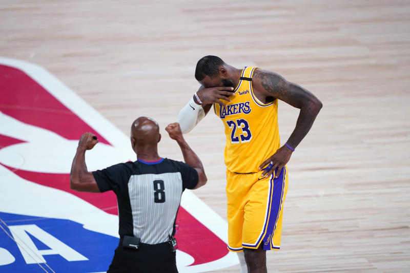 LeBron James and the Lakers are down 0-1 in their first-round series. (AP Photo/Ashley Landis, Pool)