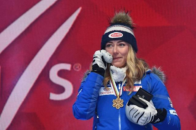 Mikaela Shiffrin already has one gold in Are but said suggestions she could have won five a 'wild miscalculation' (AFP Photo/Jonathan NACKSTRAND)