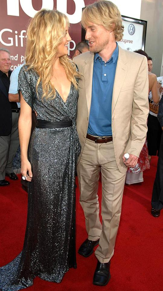 "Kate Hudson and Owen Wilson met while filming ""You, Me, and Dupree,"" and rumor has it that Owen was the reason Kate's marriage to rocker Chris Robinson came to an end. Regardless, the romance didn't last long as Kate and Owen went their separate ways in June. Lester Cohen/<a href=""http://www.wireimage.com"" target=""new"">WireImage.com</a> - July 10, 2006"