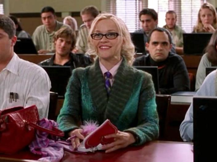 Reese Witherspoon had a newborn daughter when she played Elle Woods.