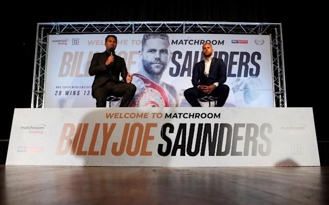 Billy Joe Saunders' first fight under Eddie Hearn's Matchroom Boxing banner will be announced next week - Action Images via Reuters