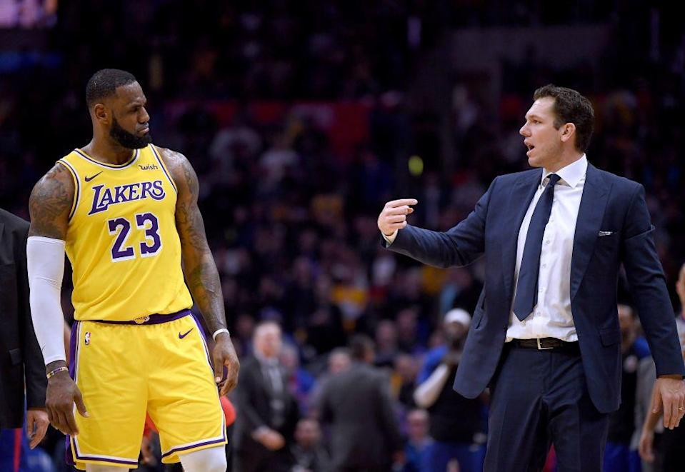 LeBron James and Luke Walton both fall on the list of who's to blame for the Lakers' failures. (Getty Images)