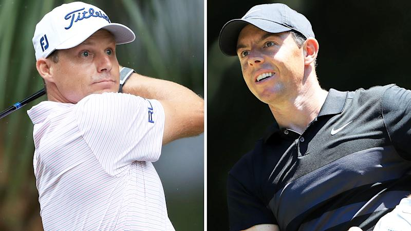 A 50-50 split image shows PGA Tour pro Nick Watney on the left and Rory McIlroy on the right.