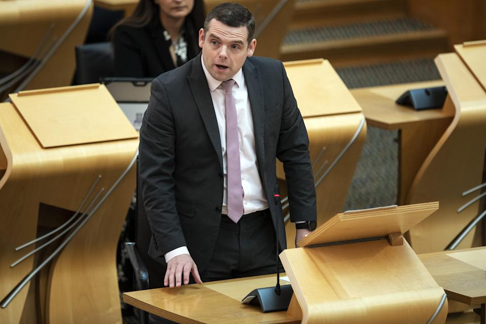 Scottish Conservative leader Douglas Ross called on the First Minister to abandon the 'botched' scheme (Andy Buchanan/PA)