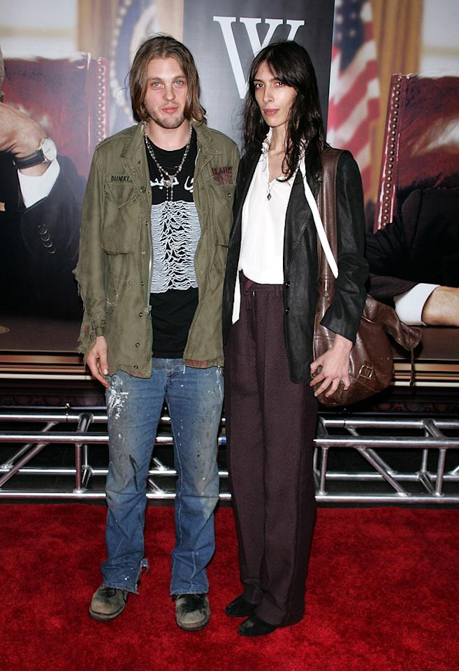 """<a href=""""http://movies.yahoo.com/movie/contributor/1804364676"""">Michael Pitt</a> and guest at the New York premiere of <a href=""""http://movies.yahoo.com/movie/1810026489/info"""">W.</a> - 10/14/2008"""