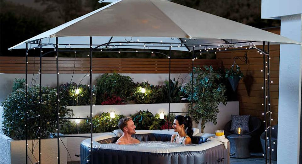 Aldi's gazebo is the affordable garden item we need this summer.  (Aldi)
