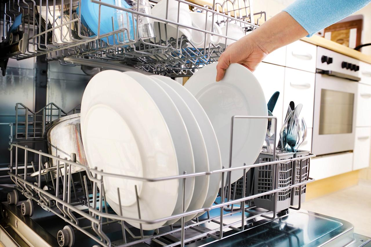 """A dishwasher is a lazy person's dream: Without lifting a finger, you suddenly have clean dishes again! But dishwashers can clean so much more than pots and pans; try throwing in shoes, car parts, plastic toys, and tools, too. <a rel=""""nofollow"""" href=""""http://www.npr.org/templates/story/story.php?storyId=11029793"""">Some</a> say you can even clean your crusty, Cheeto-stained keyboard in there, as well. (Proceed at your own risk!) But <a rel=""""nofollow"""" href=""""http://www.rd.com/home/cleaning-organizing/dont-put-dishwasher/1"""">putting these things in the dishwasher is a recipe for disaster</a>."""