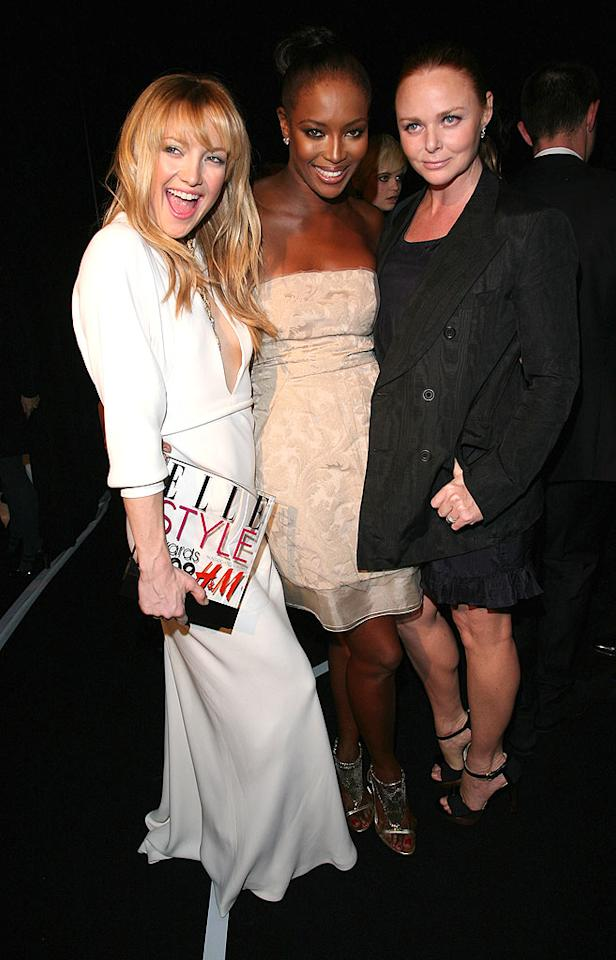 "Fashionable friends Kate Hudson, Naomi Campbell, and Stella McCartney attend the Elle Style Awards in London. Jon Furniss/<a href=""http://www.wireimage.com"" target=""new"">WireImage.com</a> - February 12, 2008"