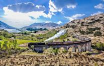 """<p>We can't think of a more magical way of visiting the Scottish Highlands than with a ride on the Jacobite steam train, also known as the Hogwarts Express, if you're a fan of the Harry Potter films. Taking you from Fort William to Mallaig, this marvellous train passes over the 21-arch Glenfinnan Viaduct and through wild parts of Scotland. During Good Housekeeping's steam tour, you'll also enjoy a cruise on Loch Katrine.</p><p><a class=""""link rapid-noclick-resp"""" href=""""https://www.countrylivingholidays.com/tours/scotland-highlands-steam-train-jacobite"""" rel=""""nofollow noopener"""" target=""""_blank"""" data-ylk=""""slk:FIND OUT MORE"""">FIND OUT MORE</a></p>"""