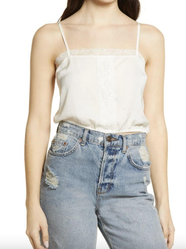 <p>This <span>BP. Lace Trim Crop Camisole</span> ($17, originally $29) will look just as good when worn with a slip skirt, as with your go-to denim jeans. </p>