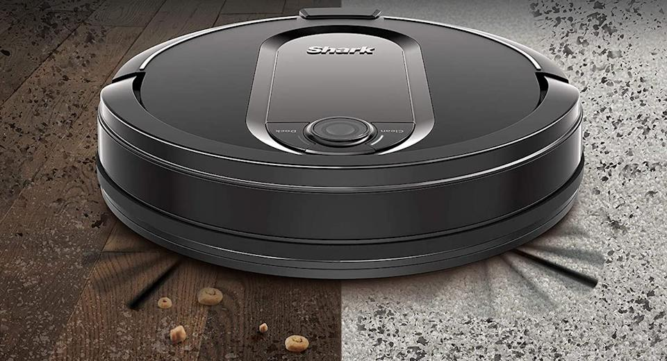 Shark IQ Wi-Fi Robotic Vacuum w/ Self-Empty & Self-Cleaning Brushroll. (Photo: QVC)