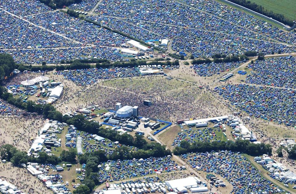 File photo dated 25/06/04 of the Glastonbury Festival site. Emily Eavis has said Glastonbury organisers aim to have the festival back in June.