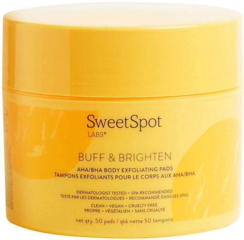 <p>If you have dark spots and uneven skin tone as a result of ingrown hairs, these <span>SweetSpot Labs Buff &amp; Brighten Body Exfoliating Pads</span> ($23, originally $30) are here to help. These pads contain blend of glycolic acid, papaya and pineapple enzymes to exfoliate and aloe vera to help soothe the area.</p>