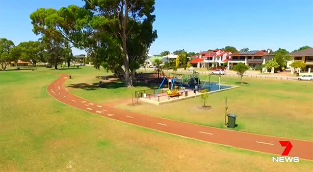 The altercation allegedly occurred at a playground at Shelley Foreshore. Photo: 7 News