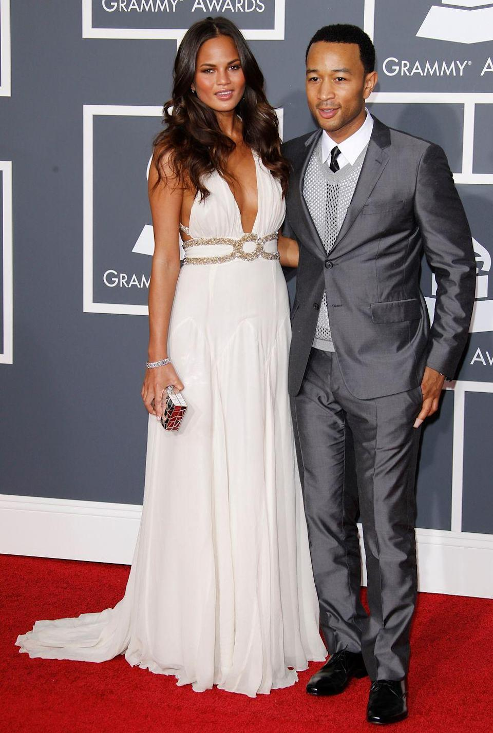<p>The fresh-faced couple at the Grammy awards. </p>