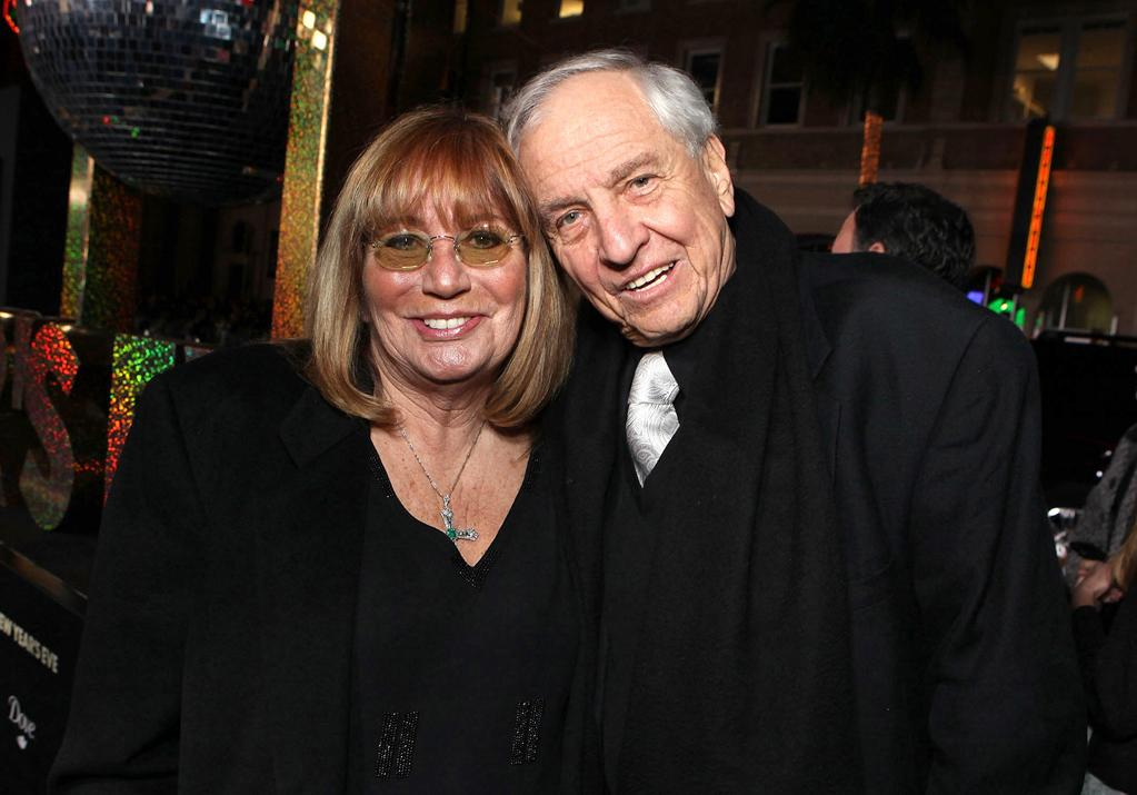 """<a href=""""http://movies.yahoo.com/movie/contributor/1800010872"""">Penny Marshall</a> and <a href=""""http://movies.yahoo.com/movie/contributor/1800019212"""">Garry Marshall</a> at the Los Angeles premiere of <a href=""""http://movies.yahoo.com/movie/1810219047/info"""">New Year's Eve</a> on December 5, 2011."""