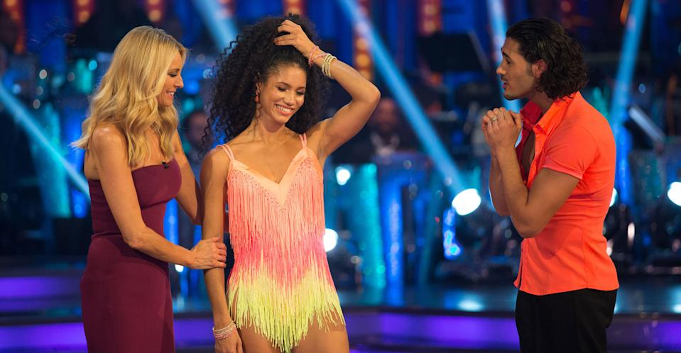 """<p>Next up is Capital Radio host Vick Hope who upon her <em>Strictly </em>elimination accused the dance competition show of being 'fixed' and said she struggled to understand her <em>Strictly </em>pro partner Italian Graziano Di Prima. This apparently didn't go down well with the Beeb, and <a rel=""""nofollow"""" href=""""https://uk.news.yahoo.com/vick-hope-banned-future-bbc-shows-strictly-fix-claims-100115104.html?bcmt=1"""" data-ylk=""""slk:she was reportedly banned from returning from the show or ever appearing on the BBC again;outcm:mb_qualified_link;_E:mb_qualified_link;ct:story;"""" class=""""link rapid-noclick-resp yahoo-link"""">she was reportedly banned from returning from the show or ever appearing on the BBC again</a>. </p>"""