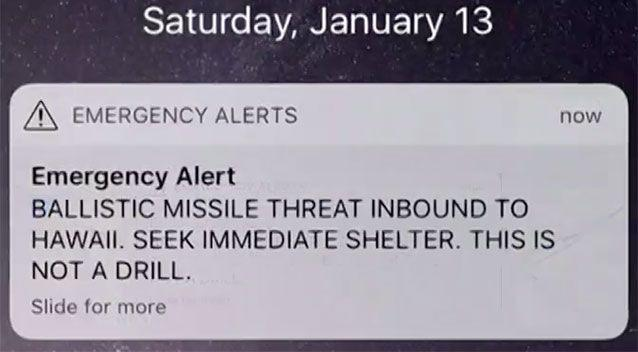 This text message turned out to be a mistake. Source: 7 News