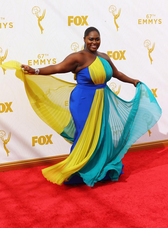 Danielle Brooks in Christian Siriano at the 2015 Emmys Awards.
