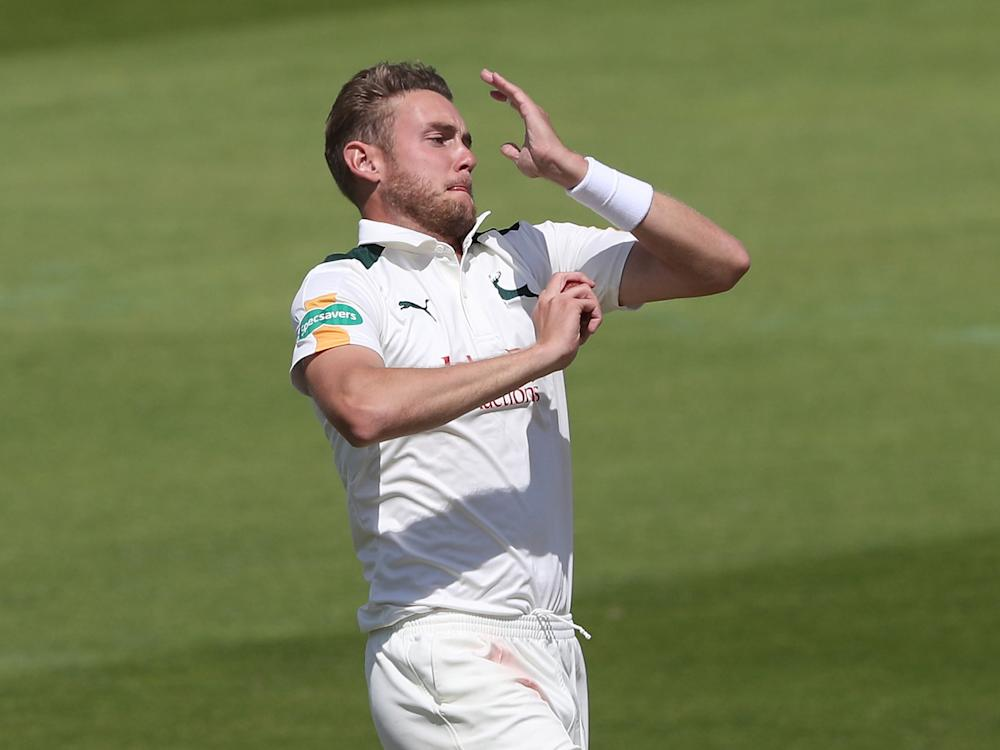 Broad took the first wicket of the new season: Getty