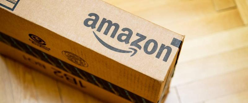 Amazon package on the ground