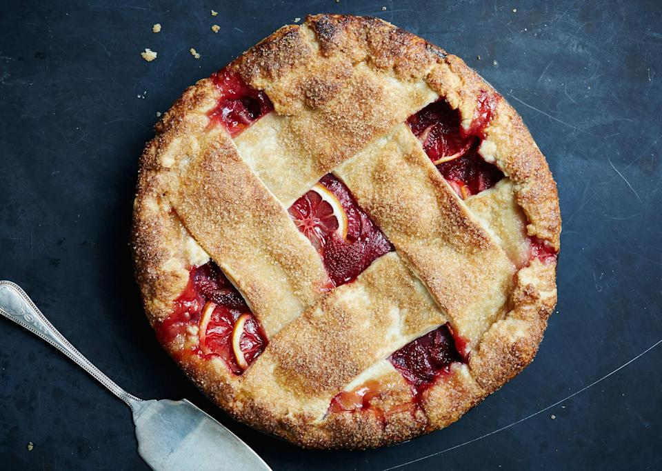 """Big fat strips of dough make for a rustic and modern-looking pie (and they're easy to weave into a lattice). If you're in love with a thinner style, or love using a fluted cutter, we won't stop you. <a href=""""https://www.bonappetit.com/recipe/strawberry-lemon-lattice-pie?mbid=synd_yahoo_rss"""" rel=""""nofollow noopener"""" target=""""_blank"""" data-ylk=""""slk:See recipe."""" class=""""link rapid-noclick-resp"""">See recipe.</a>"""