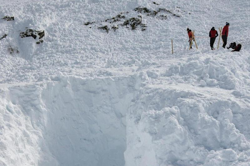 Deadly avalanche: The site where four people were killed in Austria earlier this week: AFP/Getty Images