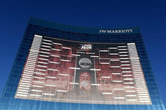 """The NCAA tournament selection committee delivered """"an in-season look"""" at the bracket Saturday. (Getty)"""