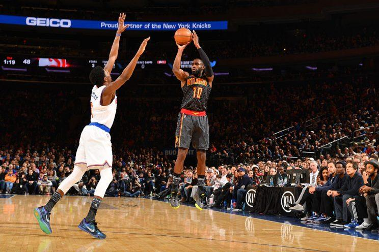 Tim Hardaway Jr. will soon be back to put up jumpers in Madison Square Garden. (Getty Images)