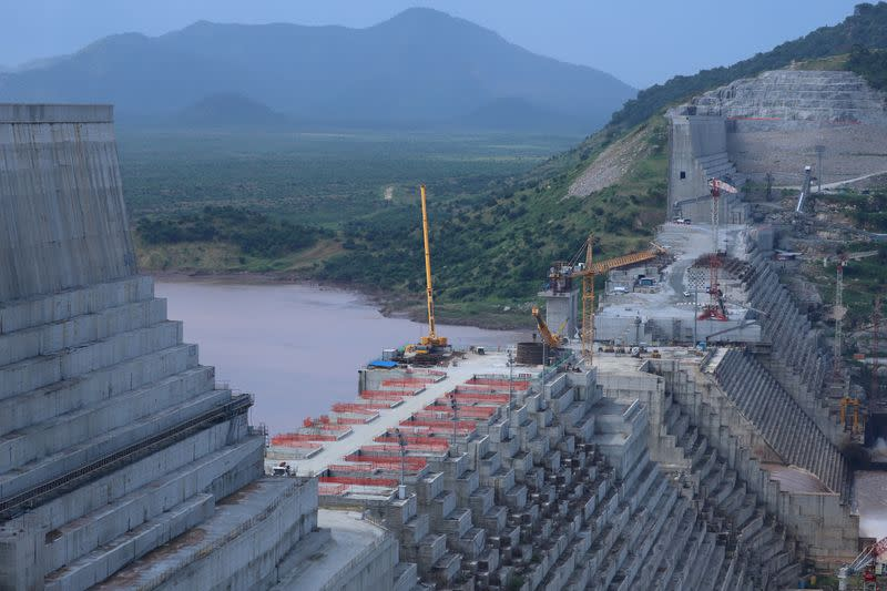 FILE PHOTO: FILE PHOTO: Ethiopia's Grand Renaissance Dam is seen as it undergoes construction work on the river Nile in Guba Woreda