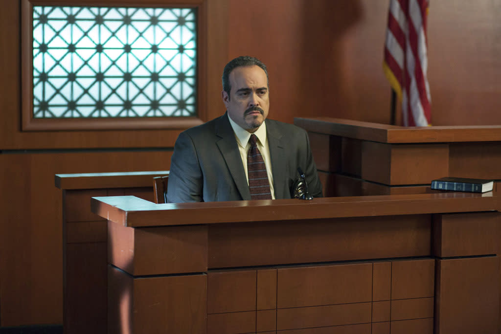 "David Zayas stars as Detective Flores in the all-new Lifetime Original Movie, ""Jodi Arias: Dirty Little Secret,"" premiering Saturday, June 22, at 8:00pm ET/PT."