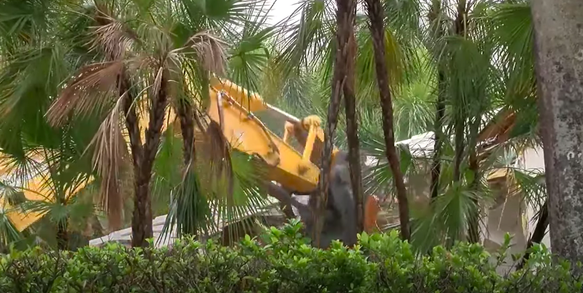 Demolition crews have begun pulling down the South Florida mansion once owned by the convicted sex offenderWPTV News - FL Palm Beaches and Treasure Coast, YouTube Channel