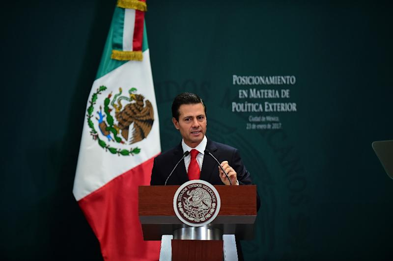Trump says NAFTA 'one-sided' for Mexico; Pena Nieto scraps meeting plans