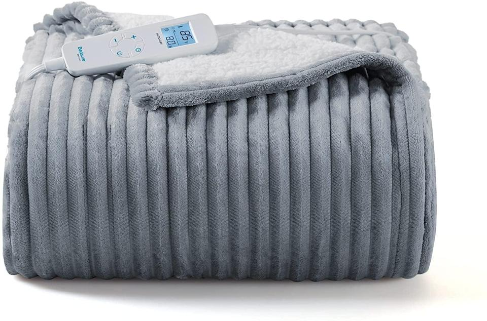 <p>With six heating levels, you'll want the <span>Amazon.com: Bedsure Electric Heated Blanket Throw </span> ($55) for the upcoming chilly season. It comes in brown, light grey, and red.</p>