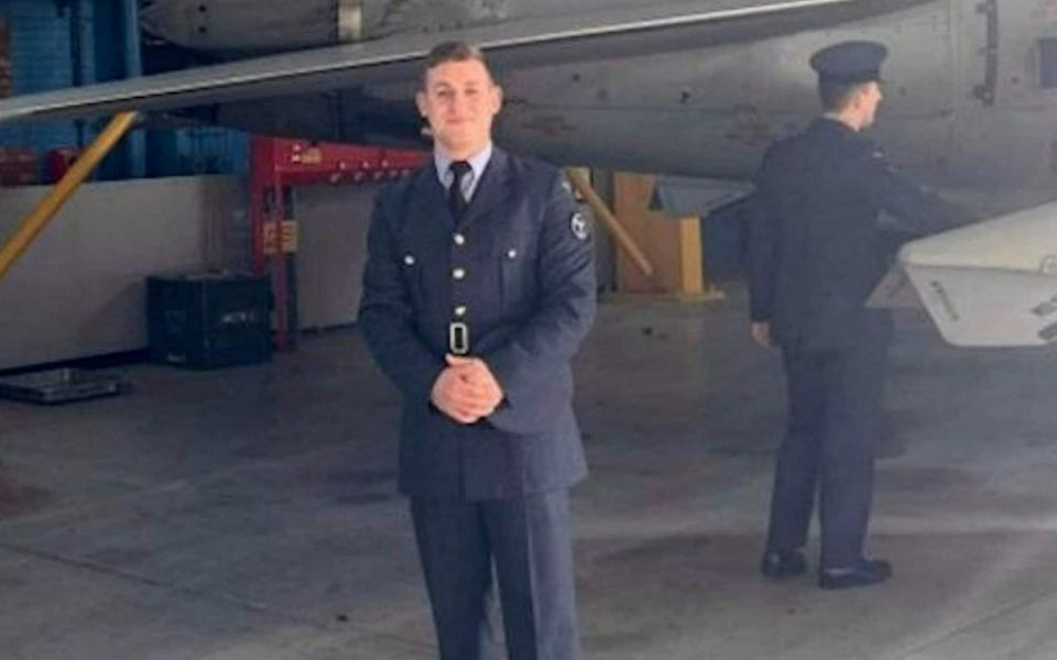 Senior aircraftman Scott Stevenson An RAF airman tragically collapsed and died from a head injury after suffering several heavy blows in an inter-services rugby match but refusing to come off, - Solent News & Photo Agency