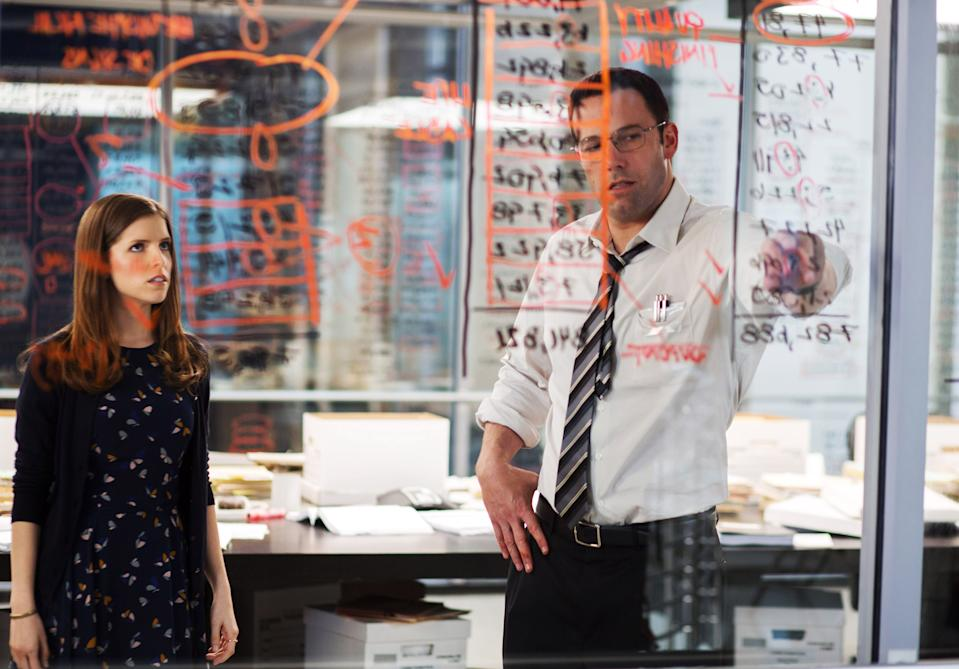 Anna Kendrick and Ben Affleck in The Accountant, 2016.