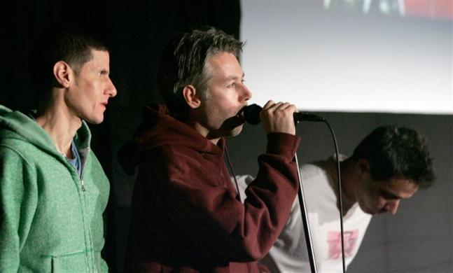 The Beastie Boys, Adam Yauch, Mike Diamond and Adam Horowitz at the Sundance Film Festival in Park City, Utah January 21, 2006.