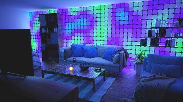 the modular nanoleaf canvas will light up your entire wall. Black Bedroom Furniture Sets. Home Design Ideas