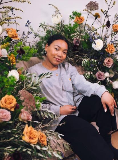 "Mallory Browne is a self-taught, L.A.-based florist who initiated the ""Flowers for Black Men"" movement"