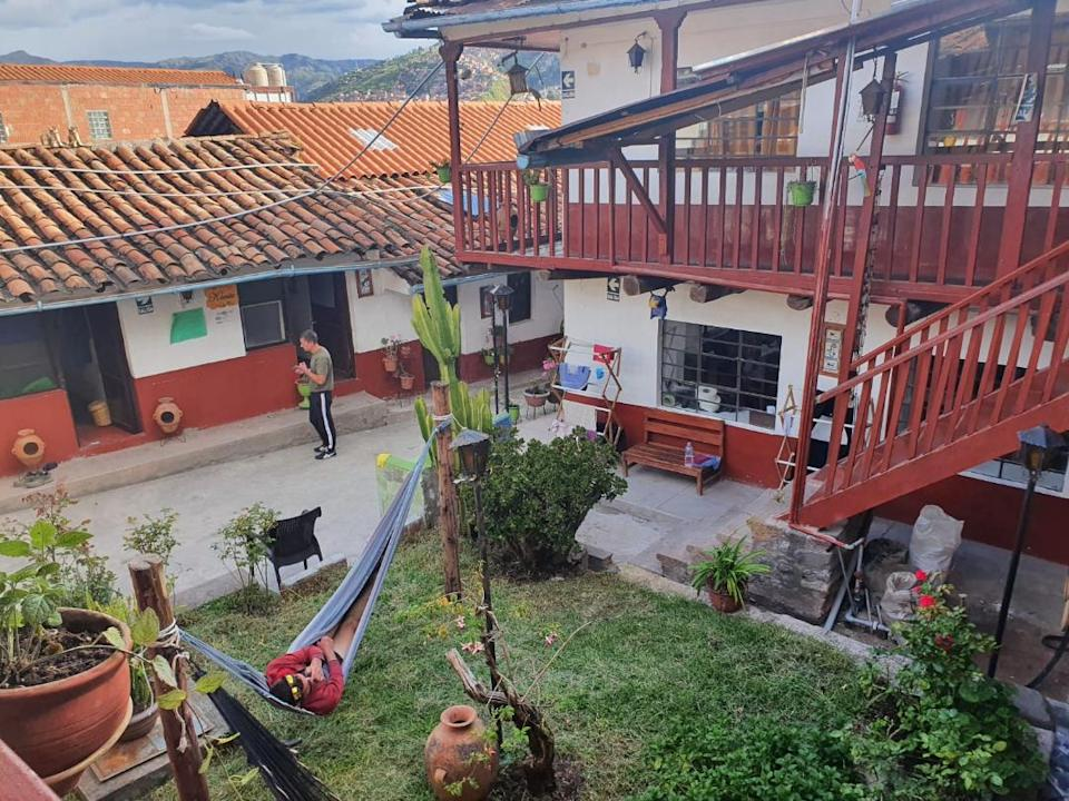 The small hostel in Peru where Steff Kidd and her friends have been quarantined until further notice.