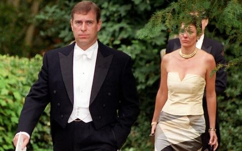 <span>Prince Andrew and Ghislaine Maxwell</span>