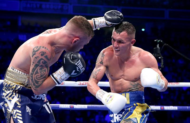 Warrington went to war and came out on top against Frampton (Getty Images)