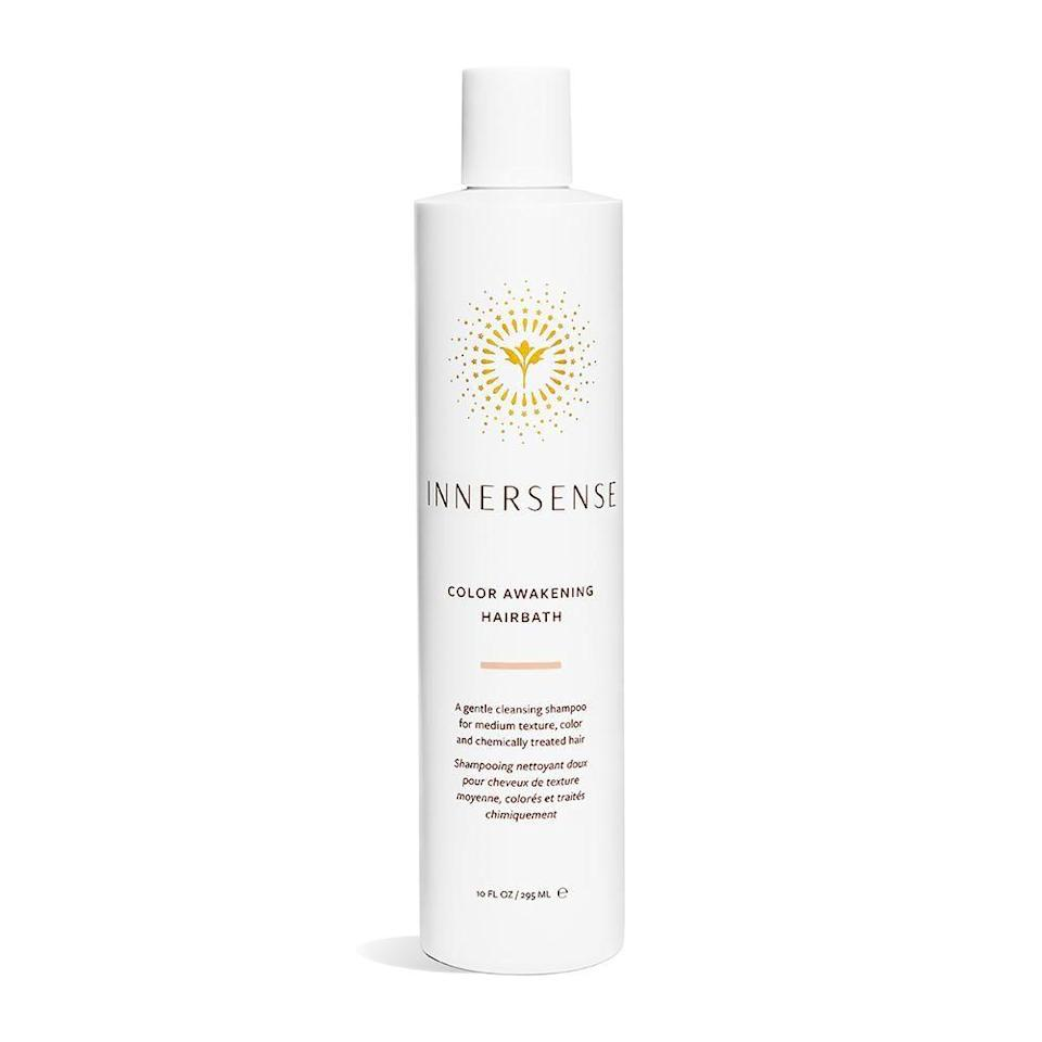 """<p><strong>Innersense</strong></p><p>credobeauty.com</p><p><strong>$28.00</strong></p><p><a href=""""https://go.redirectingat.com?id=74968X1596630&url=https%3A%2F%2Fcredobeauty.com%2Fproducts%2Finnersense-color-awakening-hair-bath&sref=https%3A%2F%2Fwww.harpersbazaar.com%2Fbeauty%2Fhair%2Fg37059982%2Fbest-shampoo-for-colored-hair%2F"""" rel=""""nofollow noopener"""" target=""""_blank"""" data-ylk=""""slk:Shop Now"""" class=""""link rapid-noclick-resp"""">Shop Now</a></p><p>This super-gentle clean cleanser helps return moisture to dry strands (common among color-treated hair), and conveniently comes in three sizes.</p>"""