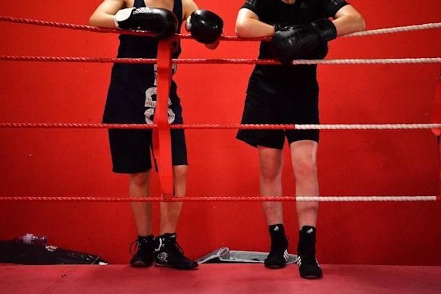 More local boys are going to the Dale Youth boxing club in London since the 2017 fire in Grenfell Tower where it was based (AFP Photo/BEN STANSALL)