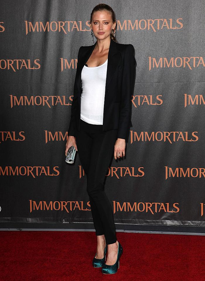 "<a href=""http://movies.yahoo.com/movie/contributor/1804094769"">Estella Warren</a> at the Los Angeles premiere of <a href=""http://movies.yahoo.com/movie/1810150710/info"">Immortals</a> on November 7, 2011."